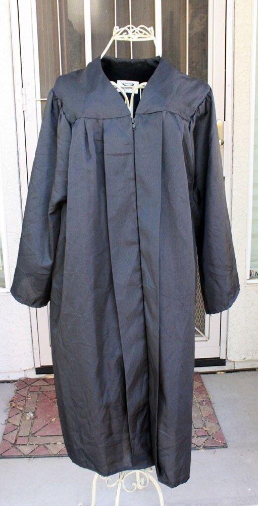 Jostens Black Graduation Gown Oak Hall Josten Choir Robe Clergy ...