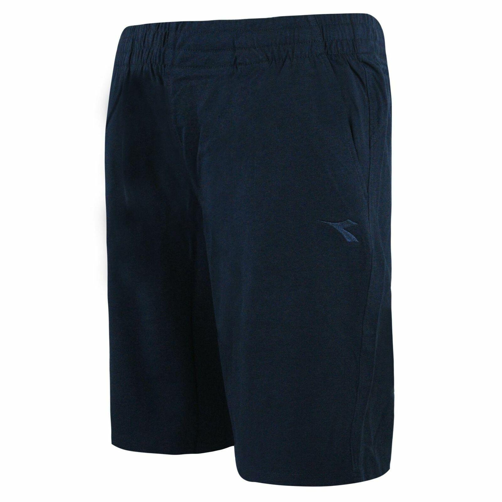 Diadora Mens Bermuda Shorts Casual Loung Pants Navy 171677 60063