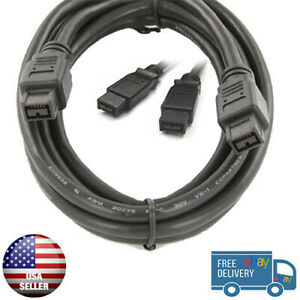100-Brand-New-FireWire-Cable-6-FT-800-FireWire-DV-Cable-9Pin-to-9Pin-6-FT