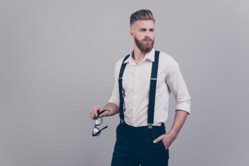 Elastic  Black Men Women Suspenders Y Unis Clip-on Suspender Adjustable