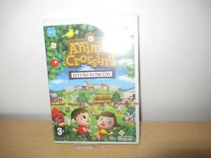 Details about Animal Crossing Let's Go To The City Nintendo Wii New &  Factory Sealed PAL