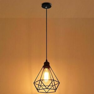 INDUSTRIAL-WIRE-CAGE-RETRO-STYLE-CEILING-PENDANT-LIGHT-LAMP-SHADE-METAL-EASY-FIT