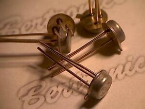 MRF604  transistor  orig. Mot  metal can  golden leads