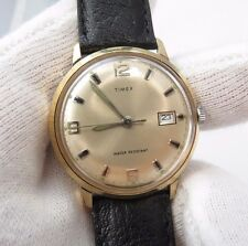 "TIMEX,70's,Manual Wind.""Round Date/just Glow Markers"" CLASSIC! MEN'S WATCH,416"