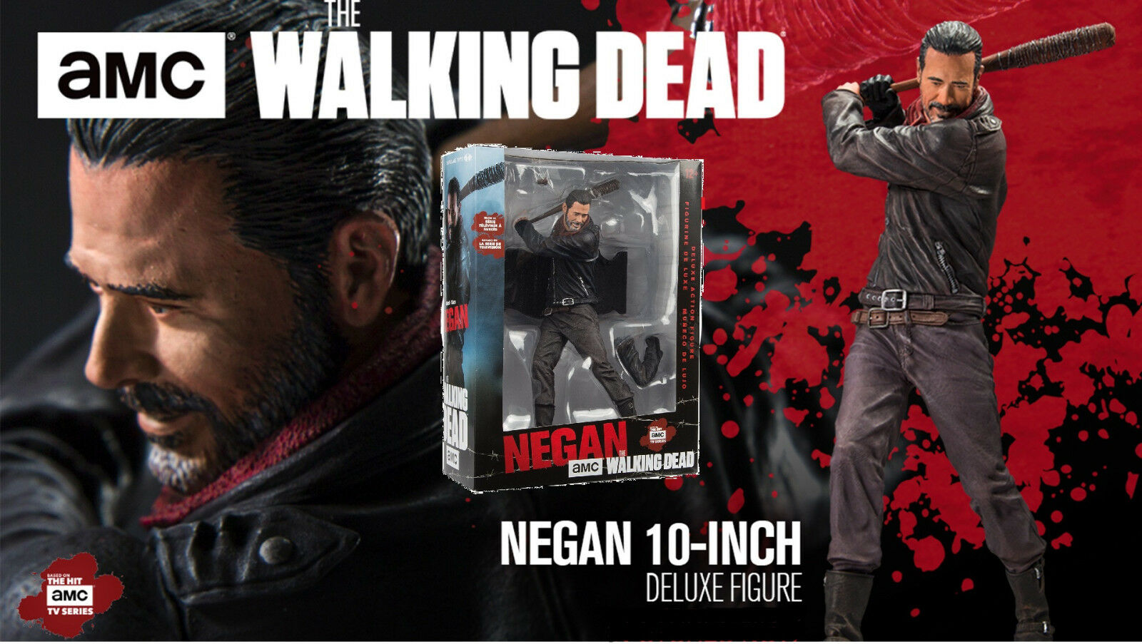 Mcfarlane walking dead - negan mit lucille - 9 13   16in deluxe '-