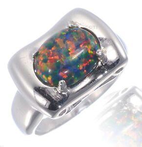 opale de feu bague or