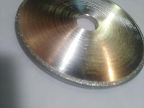"80g Convex Diamond Grinding Wheel,6/"":Lapidary Glass Polishing Carving"
