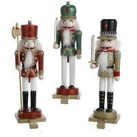 11 Kurt Adler Glitter Wooden Nutcracker Christmas Stocking Holder Hanger