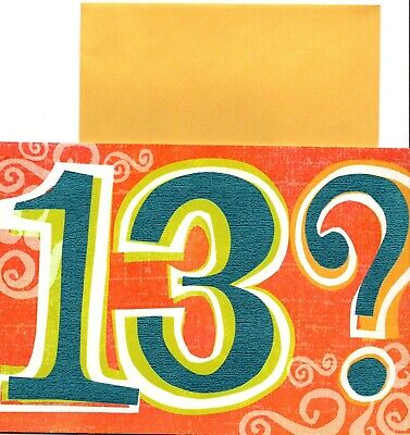 13th KID BIRTHDAY CARD HALLMARK Direct Shipping Is Available 13 Year Old Teen