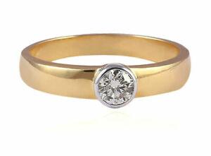 0-30-Cts-Ronde-Brillante-Couper-Diamants-Solitaire-Unisexe-Bague-En-585-14K-Or