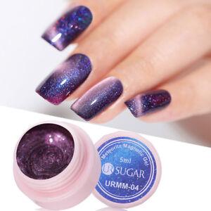 UR SUGAR 7.5ml Luminous Magnetic 3D Cat Eye Nail Gel Polish Starry Glitter Gel Lacquer Soak Off