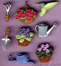 GIARDINAGGIO-utensili da giardino fiori carta Uccello Novelty Dress IT UP Pulsanti Craft