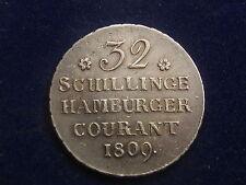 """32 Schilling 1809 Hamburg HSK """" Erhaltung """"   W/16/878"""