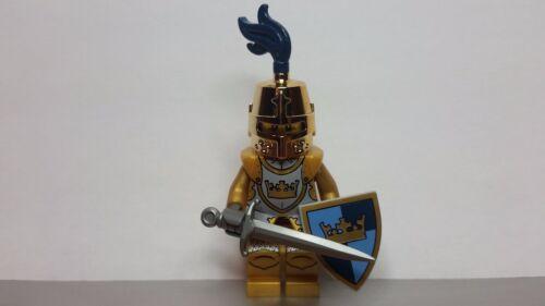 Lego CASTLE Fantasy Era CHROME GOLD Crown Knight Minifig NEW