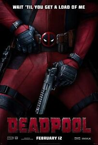 "2016 Marvel Deadpool Ryan Reynolds Movie Silk Poster 24""x36"" #LOL"