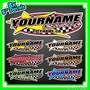 Custom Your Name Racing Decals Trailer Truck MX ATV Race ...