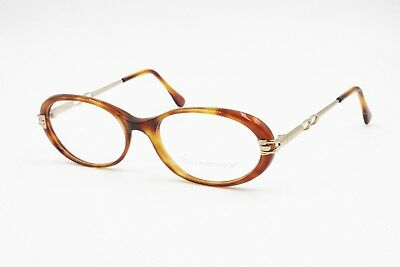 Espressive Oval Little Cay Eye Frame Brown Tortoise And Gold, Ouverture Made In Italy , Nos
