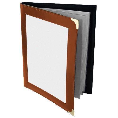 RH-Speisekarten-Mappe A4 Buchschrauben Logofenster oben - vers. Farben