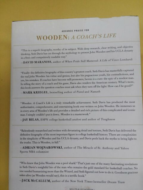 Wooden A Coachs Life By Seth Davis 2014 Hardcover
