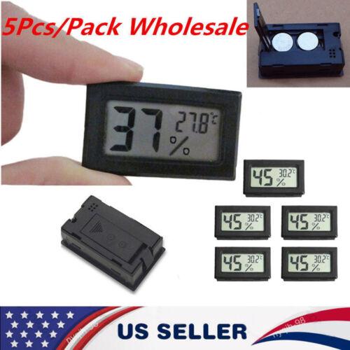 US 5PC Mini Digital LCD DisplayThermometer Hygrometer Humidity Temperature Meter