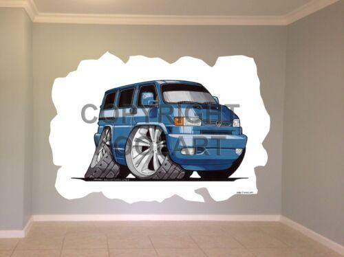 Huge Koolart Cartoon Vw Transporter T4 Wall Sticker Poster Mural 3184