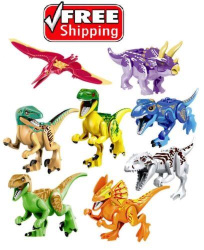 2019 Jurassic World Dinosaurs T-rax Figures Building Toys Fit Lego ☀️FAST SHIP☀️