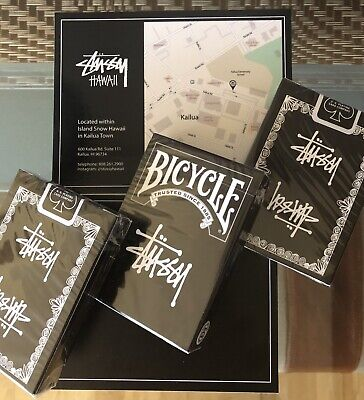 brand new 2019 with store card *Authentic* Stussy X Bicycle playing cards deck