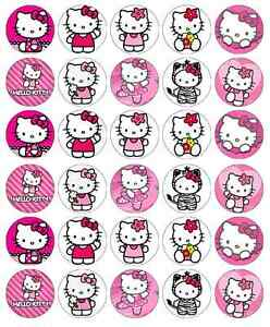 30x Hello Kitty Cupcake Toppers Edible Wafer Paper Fairy ...