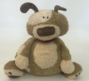 Jellycat Puppy Dog Plush Brown Spots Patch Red Collar Large Sitting 14""