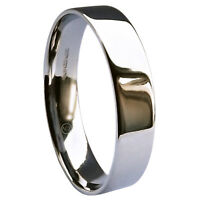 Sale 5mm 9ct White Gold Wedding Rings Flat Court 6.1g Uk Hm Uk W. Usa 11 1/8