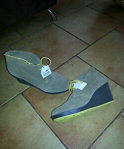 Beige gelb Damenschuhe Schuhe Leder Gr 41