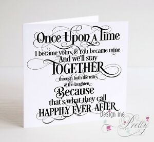 Once upon a time fairytale anniversary card husband wife image is loading once upon a time fairytale anniversary card husband m4hsunfo