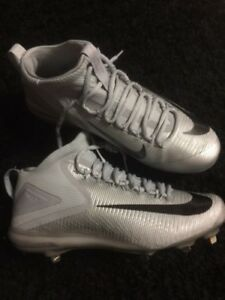 online retailer 814ee 33520 Image is loading Nike-Zoom-Trout-3-Metal-Baseball-Cleats-Grey-