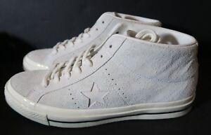8459ff8312b6 White Converse One Star Mid Vintage Suede Shoe 157702C EGRET Mens 10 ...