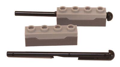 2x LEGO® Waffe Spring Shooter /& Pfeil NEU transparent-dunkel-blau 15301c01 15303