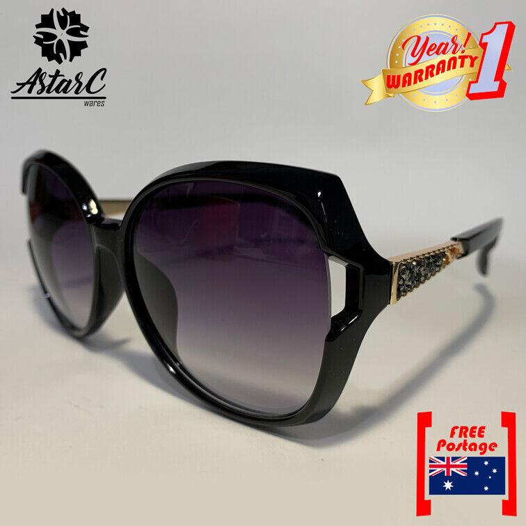 Black Butterfly Acetate Sunglasses/Polarised/Women -[SVOAW002B]- AstarC Wares