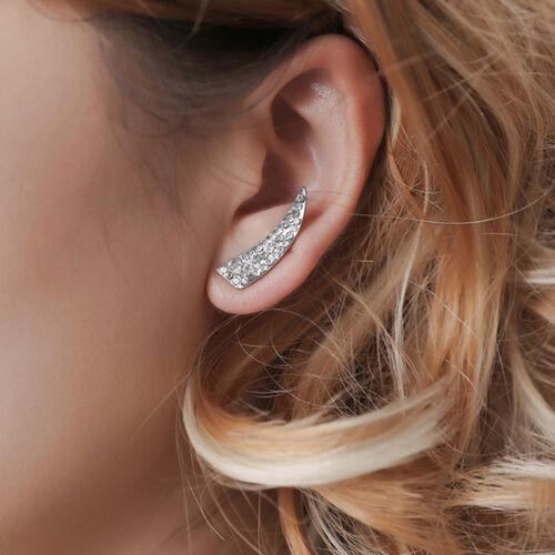 Elegante pendientes geométrico cristal pendientes con cuchilla cristal completo de moda N7