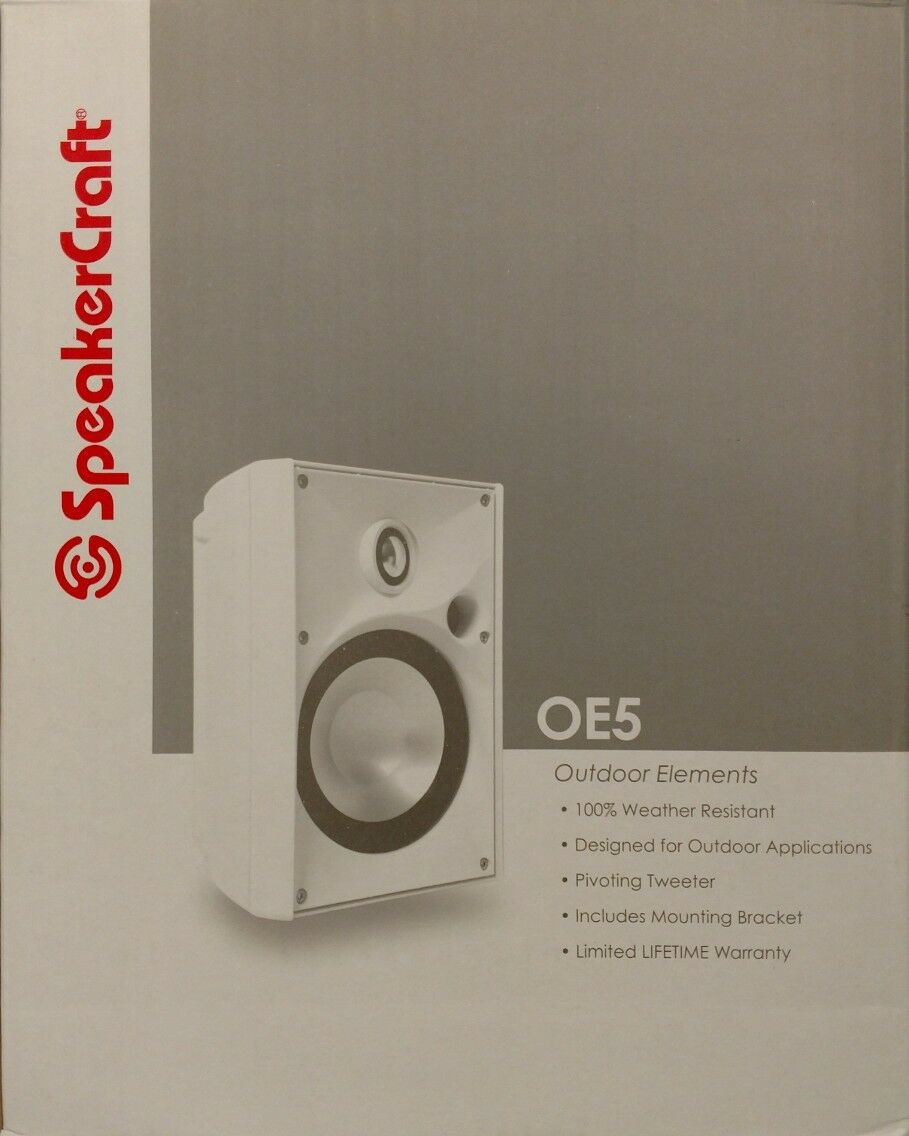 SpeakerCraft OE5 One 5.25  Outdoor Elements White Outdoor Speaker
