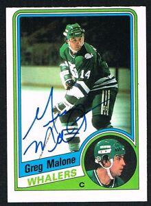 Greg Malone #74 signed autograph auto 1984-85 O-Pee-Chee Hockey Card