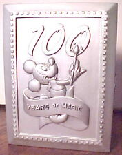 GORGEOUS WALT DISNEY 100 YEARS MAGIC PEWTER MICKEY MOUSE PICTURE FRAME WITH PIN