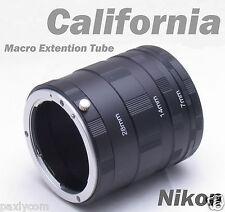Nikon Macro Extension Tube Set Ring DSLR D2 D3 D3x D3s D80 D4 D40 D650 H Xs Hs