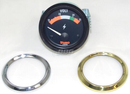 VDO Voltmeter toro 332-304-006-012 24v 24 voltios 52mm cromo negro o de oro