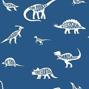 Over-The-Arc-En-Ciel-Dino-Dictionary-Papier-Peint-Bleu-Garcons-Chambre-90901