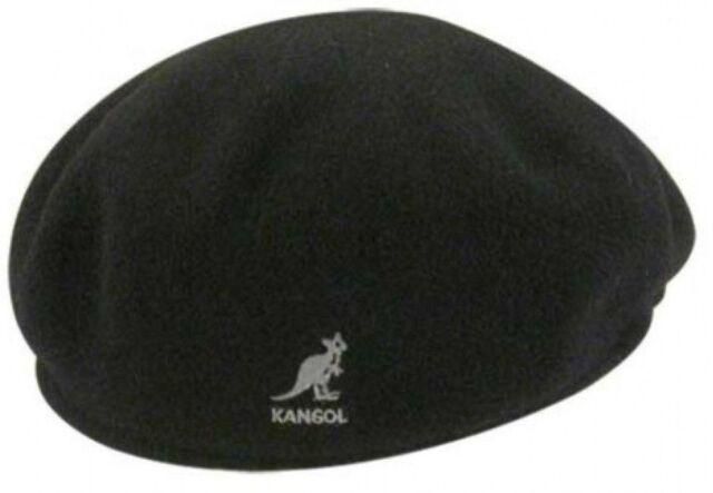 75d9bacb50e34 Kangol Mens Wool 504 Cap Black Medium 0258BC