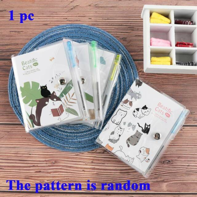 Cartoon Bear Plastic Case Button Diary Notebook Stationery Notepad With Pen C
