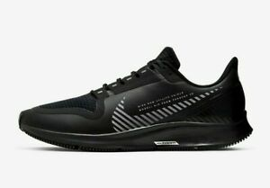 Nike Air Zoom Pegasus 36 Shield Running Shoes Black Silver AQ8005-001 Men's NEW
