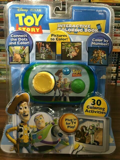 Disney Toy Story 3 Interactive Coloring Book Plug N Play TV Buzz Woody Ship  For Sale Online EBay