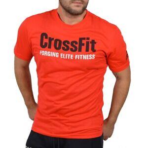 Details about Reebok Crossfit Mens Sports T Shirt Fitness Running Shirt Muscle Shirt Adidas CF Red show original title