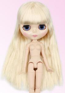 RBL Scalp /& Dome Dark Brown Hair With Bangs Japan/'s Hair R001 For Blythe Doll