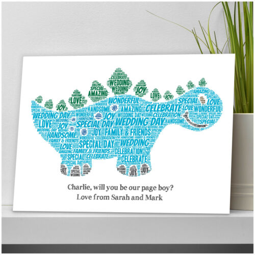 Personalised Will you Be My Page Boy Usher Best Man Dinosaur Wedding Gifts